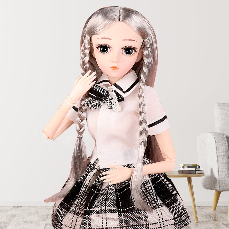 UCanaan BJD Doll 1/4 SD 18 Ball Jointed 45 CM Dolls with Clothes Outfit Shoes Wig Hair Makeup Best Gift for Girls