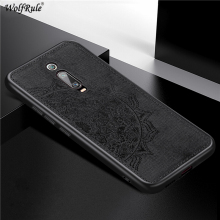 Wolfrule Case For Xiaomi Mi 9T Magnetic Fashion Cloth Shockproof Cotton Fabric Phone Cover Mi9T