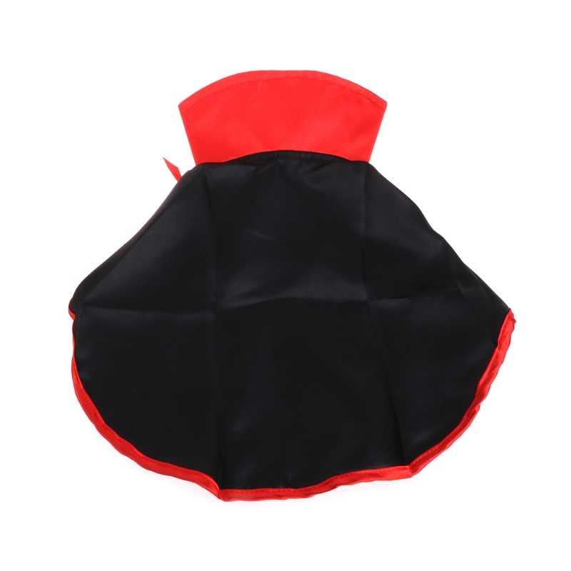 Cool negro mascota gato disfraz de Halloween para perro Cosplay capa chales capa cálida bufanda boda cumpleaños fiesta regalo Pet suministros