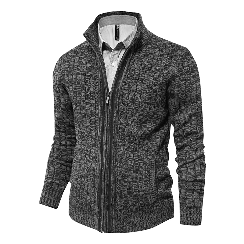 Brand Autumn Men Sweaters Knitted Zipper Cardigan Male Top Quality Brand Classic Cashmere Clothing Sweater Men's Cardigan 2019