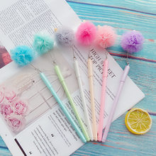 Ellen Brook 1 Pcs Creative Leuke Cartoon Bloem Ijs Hanger Gel Pen Briefpapier Gift Novel Styling School Kantoorbenodigdheden(China)