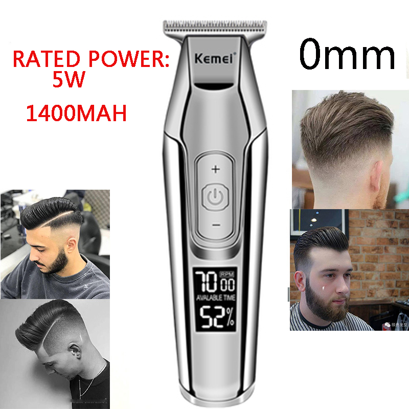 Image 4 - Kemei Professional Hair Clipper LCD display Electric Hair Clipper men's beard trimmer hair trimmer hairdresser hair clipper 5-in Hair Trimmers from Home Appliances