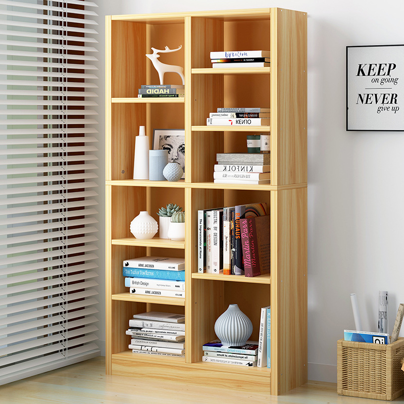 Simple Bookcase Floor Storage Shelf Modern Minimalist Home Bookcase Economical Multi-functional Province Space Cabinet Sub-