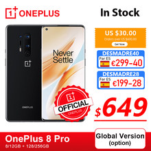 Globale Version Oneplus 8 Pro 5G Smartphone Snapdragon 865 8GB 128GB 6,78 120Hz Flüssigkeit Display 48MP quad OnePlus Offizielle Shop