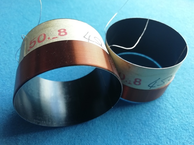 """1 Uds. ID: 50,8mm 2 """"4 ohm 2F claxon voice coil altavoz de graves profundos negro aluminio"""