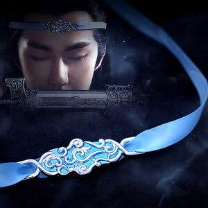 Lan Wangji Hair Jewelry Mo Dao Zu Shi Yaoi Headband Cosplay The Untamed Grandmaster of Demonic Cultivation Wei Wuxian Hanfu(China)