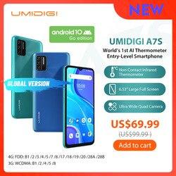 UMIDIGI A7S Smart Phone6.53 дюйм20:9 большой экран 32 Гб 4150 мАч Тройная камера глобальная версия мобильного телефона инфракрасный датчик температуры