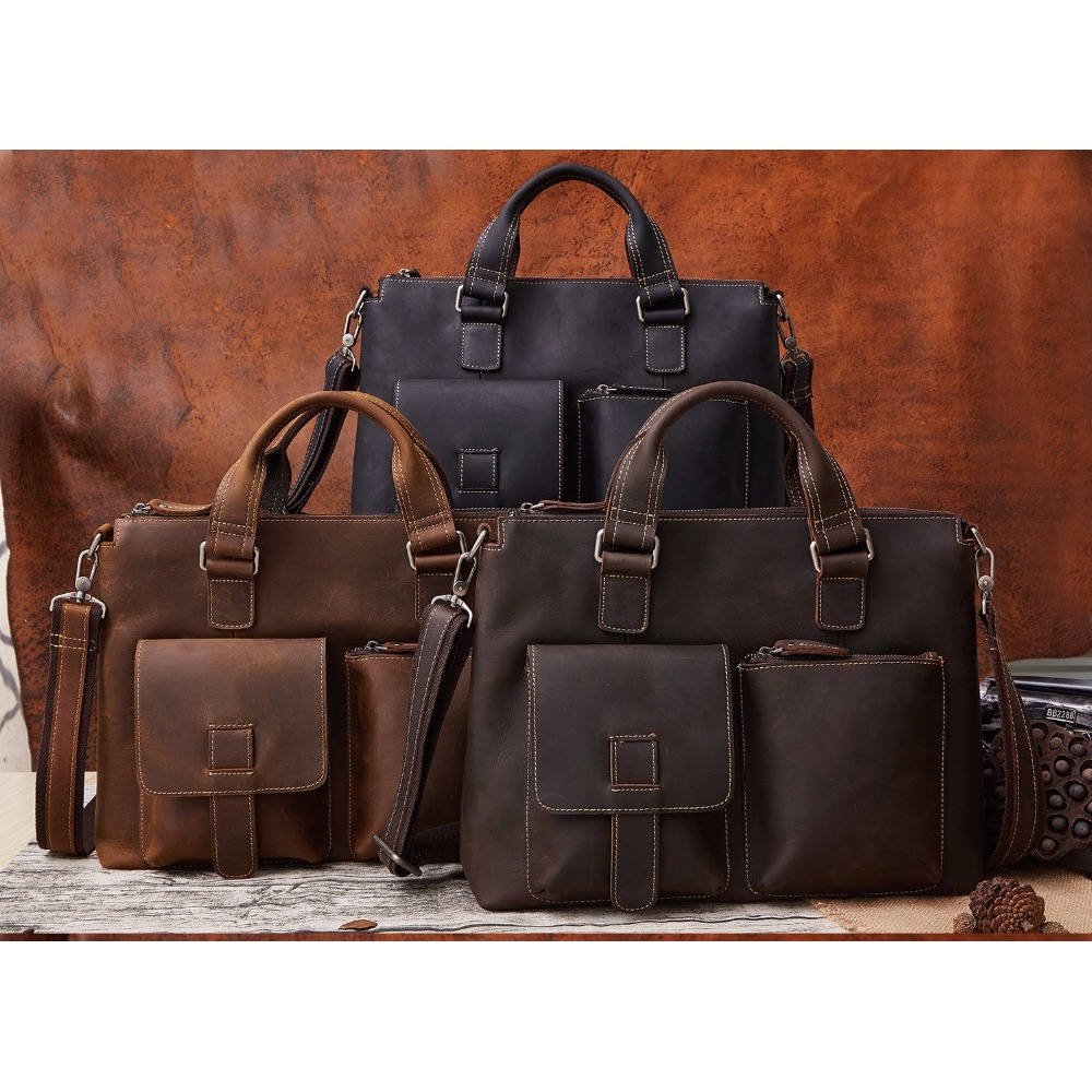 Men 'S Leather Bag Oxleaz OX260 Upgrade