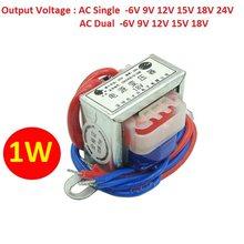 Tensão de saída única/dupla ca 6v 9v 12v 15v 18v 24v núcleo de cobre transformador de potência 1w DB-1VA tensão de entrada ac 220v 50hz ~ 60hz