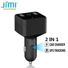 JIMI HVT001 – chargeur de voiture, localisateur GPS, enregistrement vocal, traqueur USB, deux Ports USB pour téléphone avec SOS caché, application découte Google Map