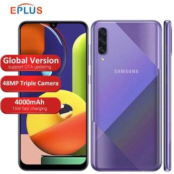 Купить Глобальная версия samsung Galaxy A50s A507FN/DS мобильный телефон с двумя sim-картами 64 Гб/128 ГБ rom 6,4 дюйм4000 мАч Тройная задняя камера 48MP телефон