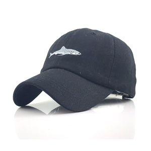 Image 1 - New Washed Cotton Baseball Cap with Whale pattern Peaked Embroidered letter Dad Hat for Men Women Casquette gorra hombre bone