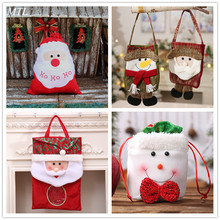 MTL cute Christma Candy Bag Present Packet Santa Claus snowman elk Gift Bags For Home New Year Christmas Decorations