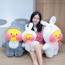 75 см милые LaLafanfan кафе утка обратиться к Единорог Totoro Panda плюшевые игрушки, набитое Мягкое Животное, куклы для детей, подарки на день рождения ...