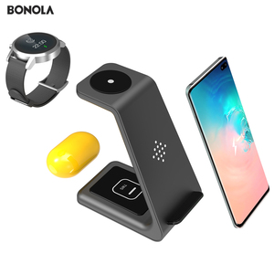 Image 4 - Bonola 3 in1 Wireless Charging Station For Samsung Galaxy Watch/Buds/S10/S9 Fast Qi Wireless Charger For Samsung Note10/Note9/S8