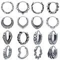 316L серьги-кольца из нержавеющей стали хип-хоп серьги в стиле панк-рок для мужчин женщин мужчин Ретро готический круг круглые серьги череп