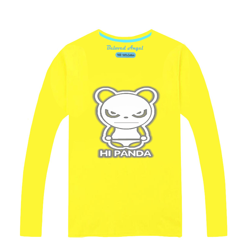New Fashion Yellow Red Blue Children T-Shirt Autumn Long Sleeve Luminous T-Shirts For Baby Batman T Shirts Girls Tops Clothes