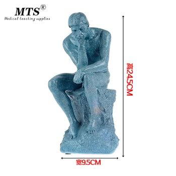 Full resin Thinker sculpture effigy meditator Works art human body model Medical teaching Human body бенч скамья body sculpture lb0830 01 page 9
