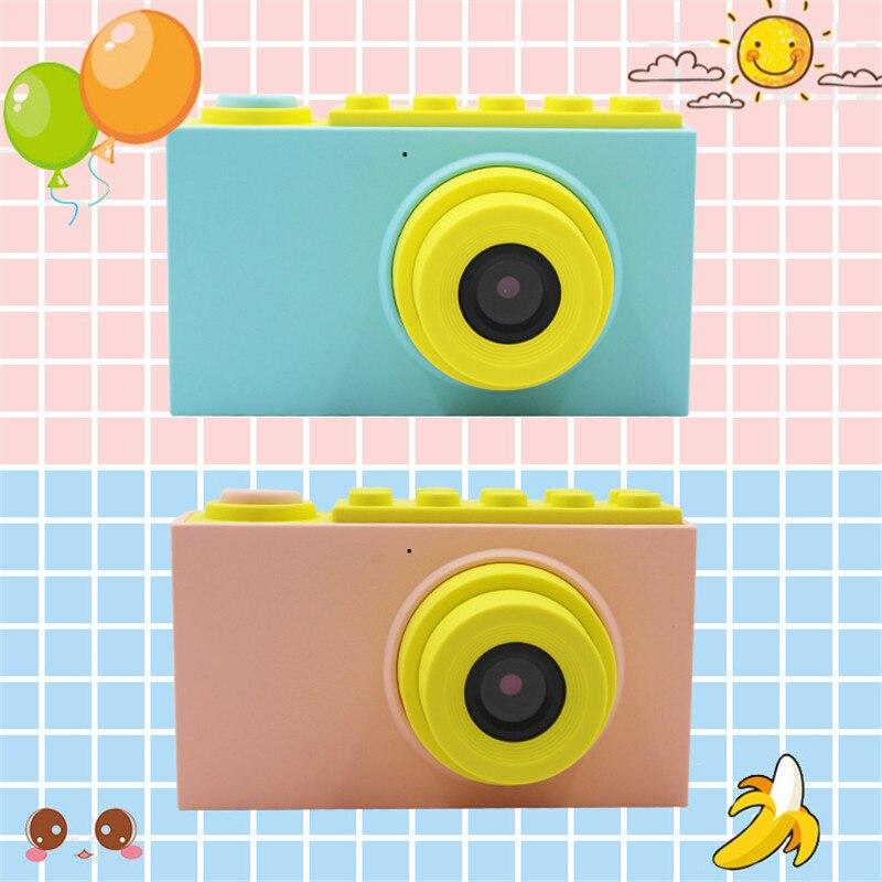 Enfants Mini appareil photo numérique jouets enfants éducation jouet appareil photo numérique avec couverture étanche autocollants faciles à poser cadeau d'anniversaire - 3