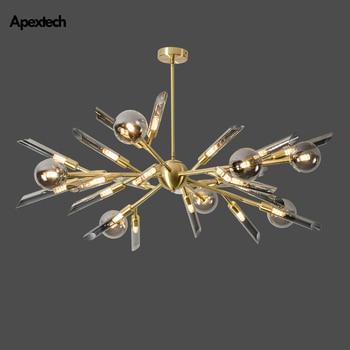 Modern Nordic LED Chandelier Ceiling Hanging Lamp Living Room Bedroom Lighting Fixtures Home Decorations lights