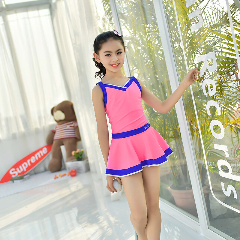 2018 New Style Children Diving Suit Outdoor Sleeveless One-piece Swimming Suit Sun-resistant Quick-Dry Children Swimwear