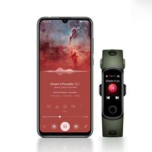Image 3 - Смарт браслет Honor Band 5i, фитнес браслет с USB зарядкой, управлением музыкой, мониторингом кислорода в крови, для бега