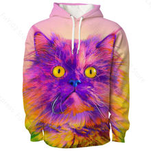 3d print hoodies acuarela animals new fashion man women lion