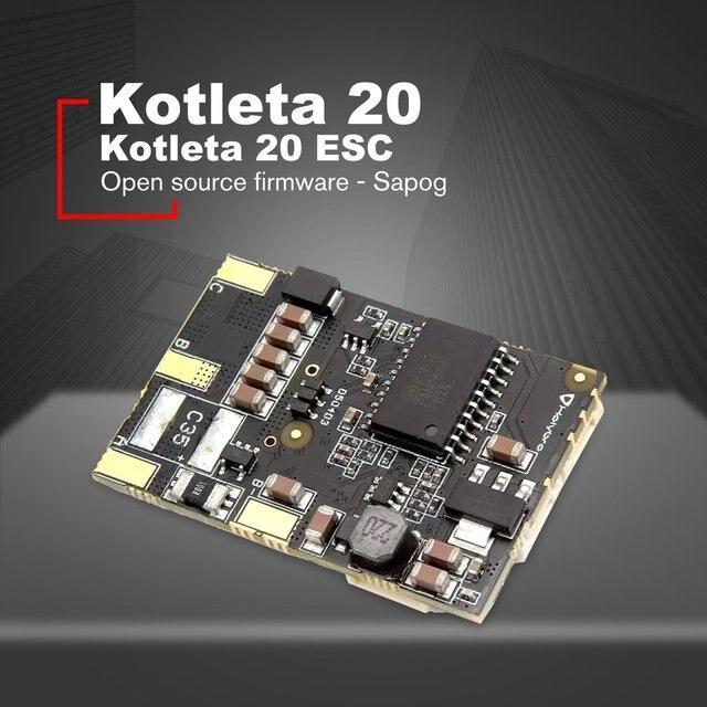 Kotleta 20 ESC 500W peut Bus BLDC moteurs contrôleur capteur pour RC Drone lumière véhicules aériens sans pilote 40.2x27mm