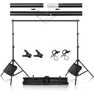 Высокий задник для фотостудии, подставка для фона, система поддержки фона с зажимом, сумка для хранения песка