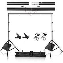 Fotografie Studio Foto Video Hoch Hintergrund Stand Rahmen Hintergrund Support System Kit mit Clamp Sand Tasche Tragen Tasche
