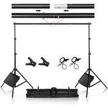 Photography  Studio Photo Video Tall Backdrop Stand Frame Background Support System Kit with Clamp  Sand Bag Carry Bag