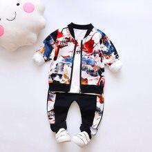 Ensemble de vêtements pour bébés filles et garçons, tenue mignonne tendance coréenne, manteau, t-shirt et pantalon, 3 pièces, printemps-automne 2019