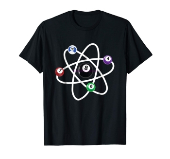 brand men shirt Billiards Atom Science Shirt 8 Ball Pool Lovers T Shirt