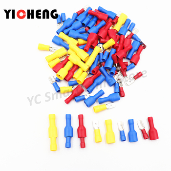 100pcs connection terminal cold-pressed terminal block terminals for   wire cable crimping kit  wire connector FDFD MDD mystery mdd 7900ds