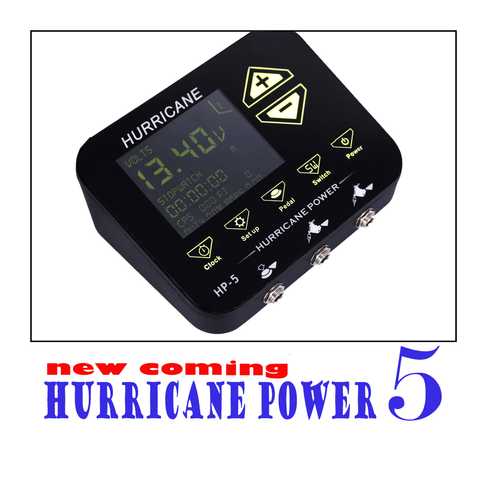 Premium Tattoo Power Supply New Coming Smart Tattoo Power Hurricane Power Supply For Professional Tattoo Artist