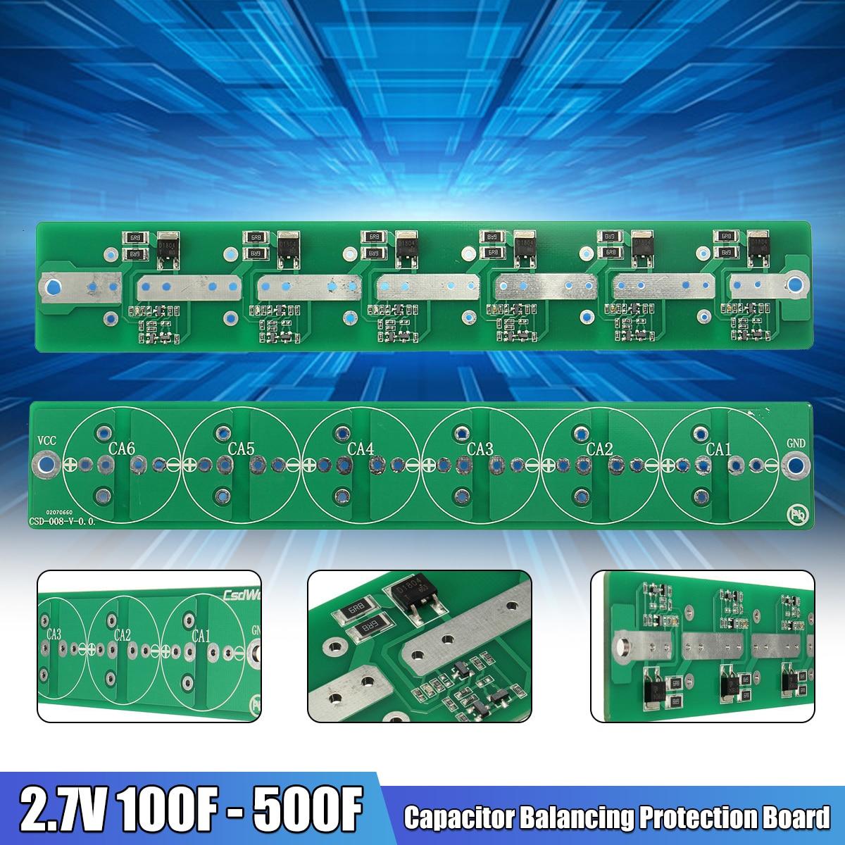 6string Super Capacitor 2.7V 120F 2.7V 100F Protection Board