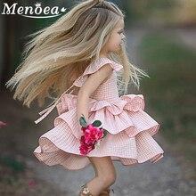 Menoea 2016 New Autumn Cartoon Girls Dress  Clothes Long Sleeve Peter pan Collar Print for Kids