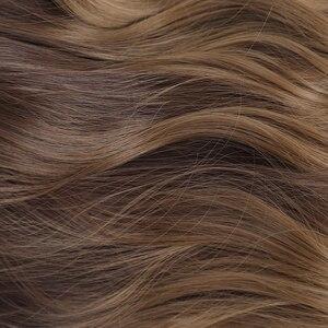 Image 5 - אלן איטון ארוך גלי Ombre שחור חום פאות גל סינטטי פאה עבור נשים טבעי התיכון חלק חום עמיד שיער קוספליי פאות