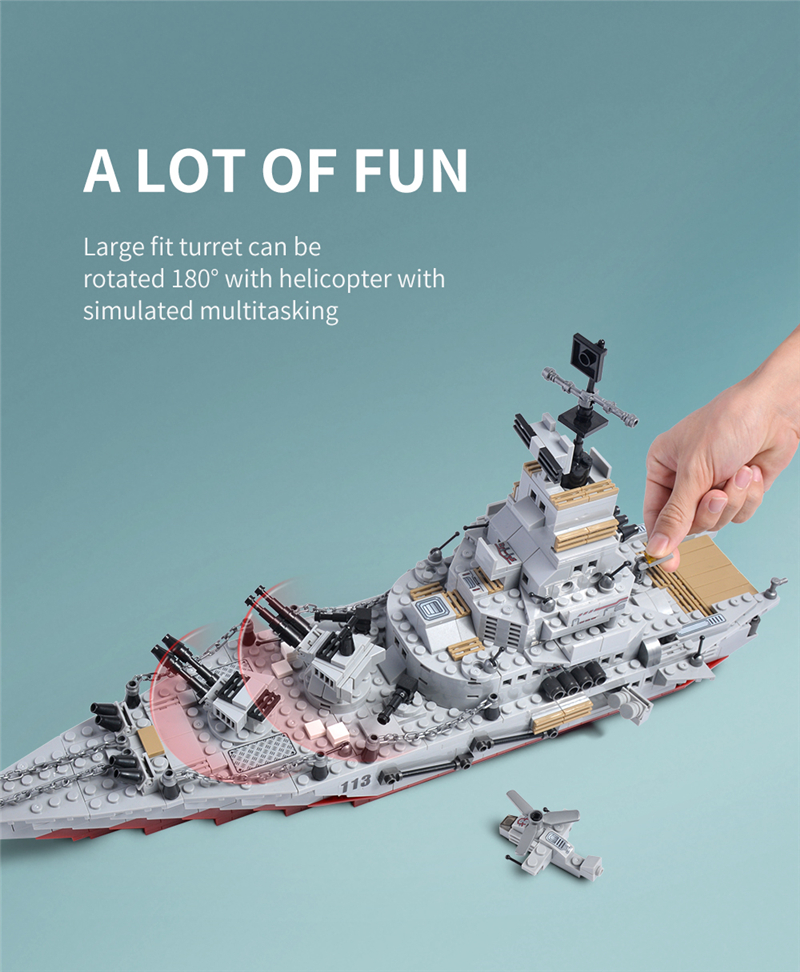 1000+ PCS Military Warship Navy Aircraft Army Figures Building Blocks LegoINGlys Army Warship Construction Bricks Children Toys (4)