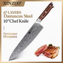 XINZUO 10 inç şef bıçağı japon şam çelik mutfak bıçakları en iyi kalite profesyonel Gyuto bıçak otel ve restoran için