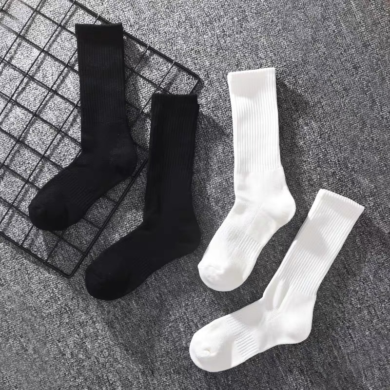 High Quality Pure Color Cotton Happy Socks Men Black White Mens Socks For Autumn Winter Spring Calcetines Hombre Meias 121605