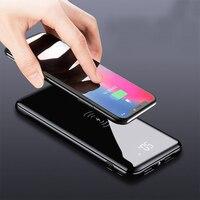 Power Bank 10000mAh Drahtlose Ladegerät Für Xiao mi mi iPhone Tragbare Externe Batterie Poverbank QI Drahtlose Schnelle Ladegerät Power