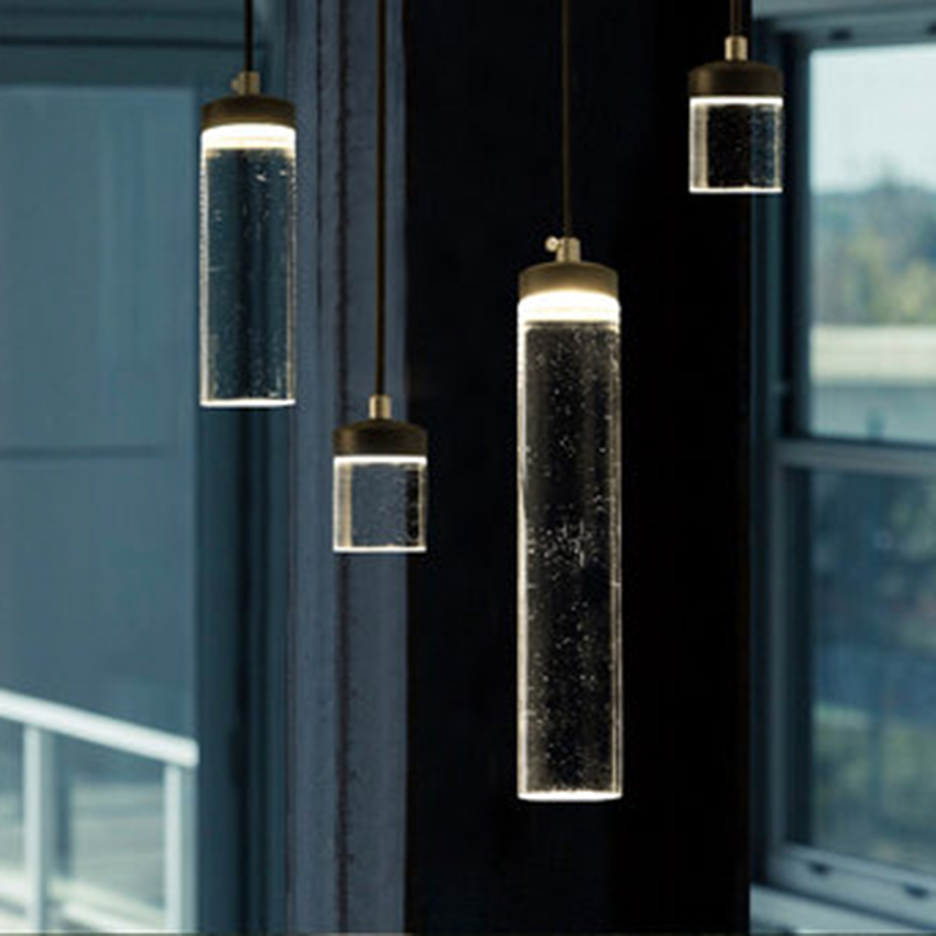 Modern LED Pendant Lamp Transparent Acrylic Pendant Lights Nordic Bar Restaurant Lamp Living Room Bedroom Decor Light Fixtures