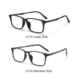 Image 5 - Naloain 近視眼鏡フレーム超軽量正方形の処方眼鏡チタン TR90 フレーム光眼鏡男性女性