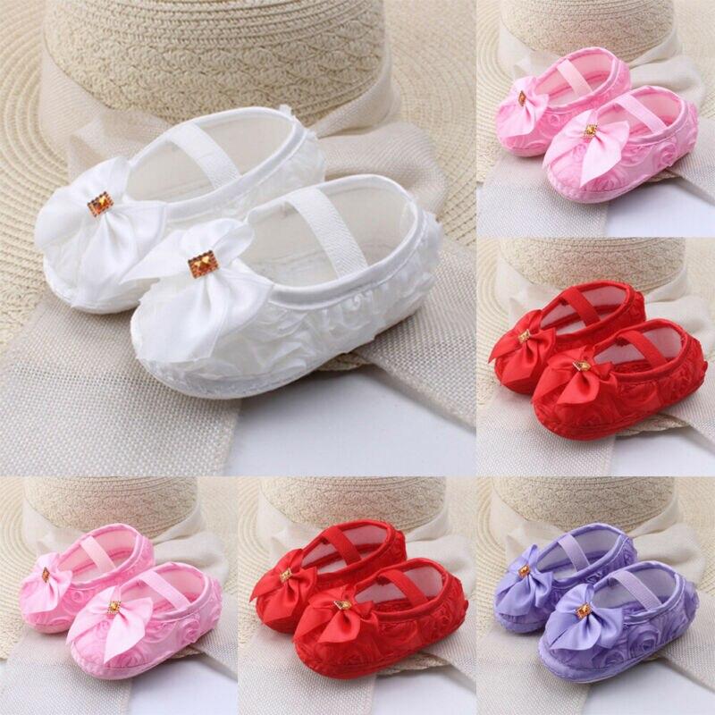 0-18M Newborn Baby Boy Girl Soft Sole Cotton Crib Shoes Anti-slip Sneaker Prewalker First Walkers Trainers