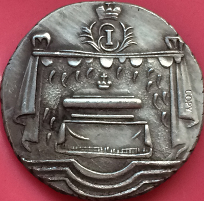 Russa Moedas Elizabeth 1761 cópia 20mm