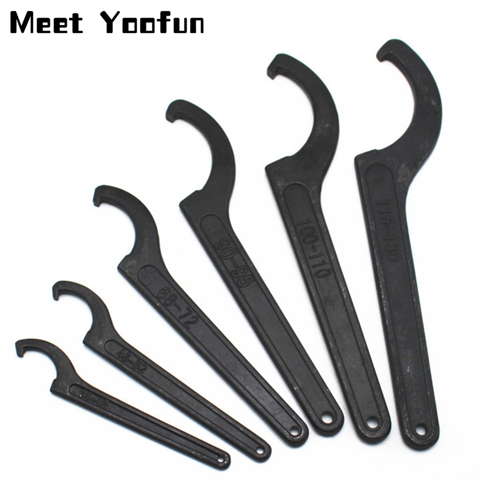 LAVALINK C Shape Wrenches Crescent Hook Head Round Nut Spanner Hand Tools
