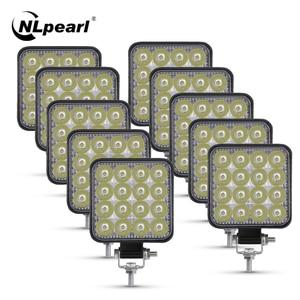 Nlpearl Led Light Bar 42W 48W Mini LED Work Light Spotlight 12V 24V Offroad LED Bar For Offroad Jeep Truck 4X4 4WD Car SUV ATV