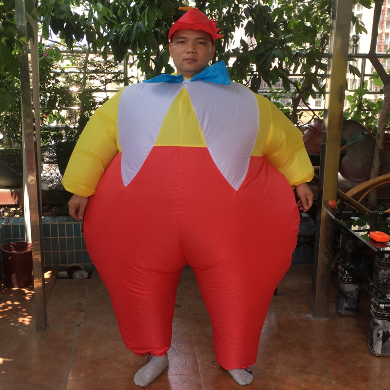Inflatable Dumm Dee Costume For Adult Fat Brother Inflatable Full Body Suit Halloween Walking Cosplay Party Fancy Dress Costume (3)