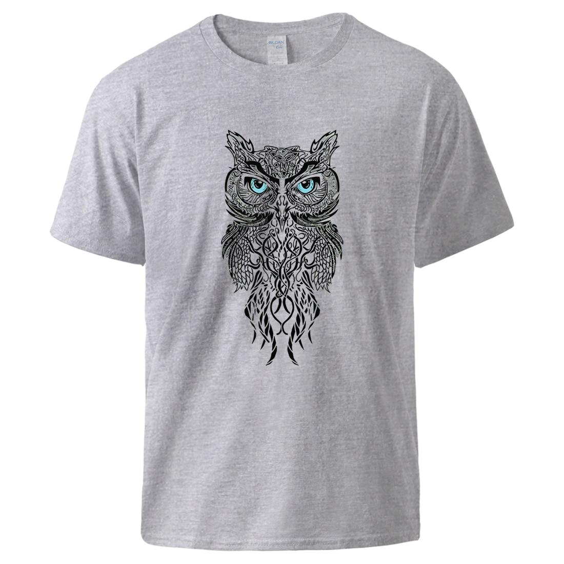 Cool Owl Tshirts 2020 New Arrival Cotton Short Sleeve T Shirts Casual Short Sleeve Sportswear Man Summer Cool Fashion T Shirts